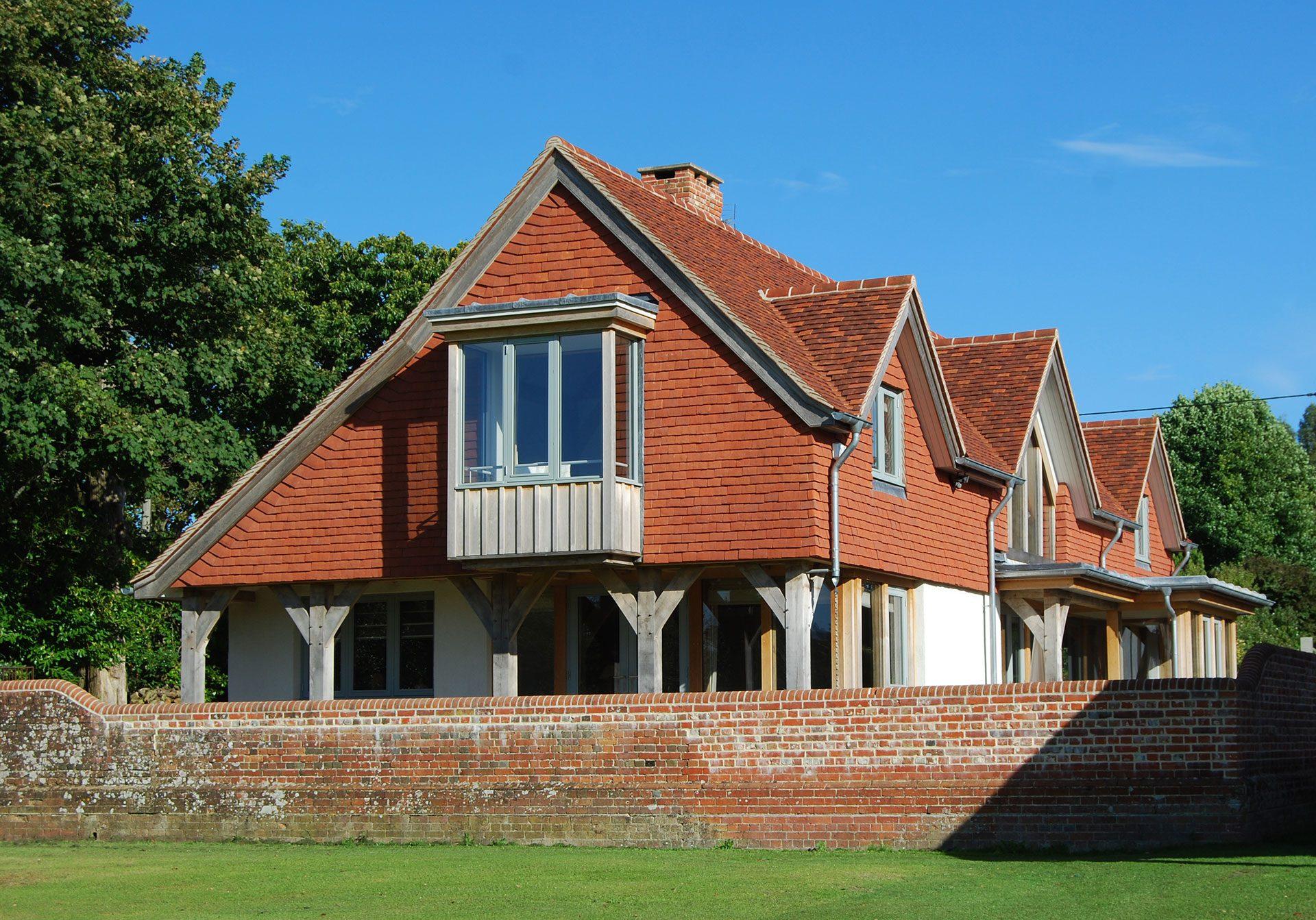 oak framed eco house