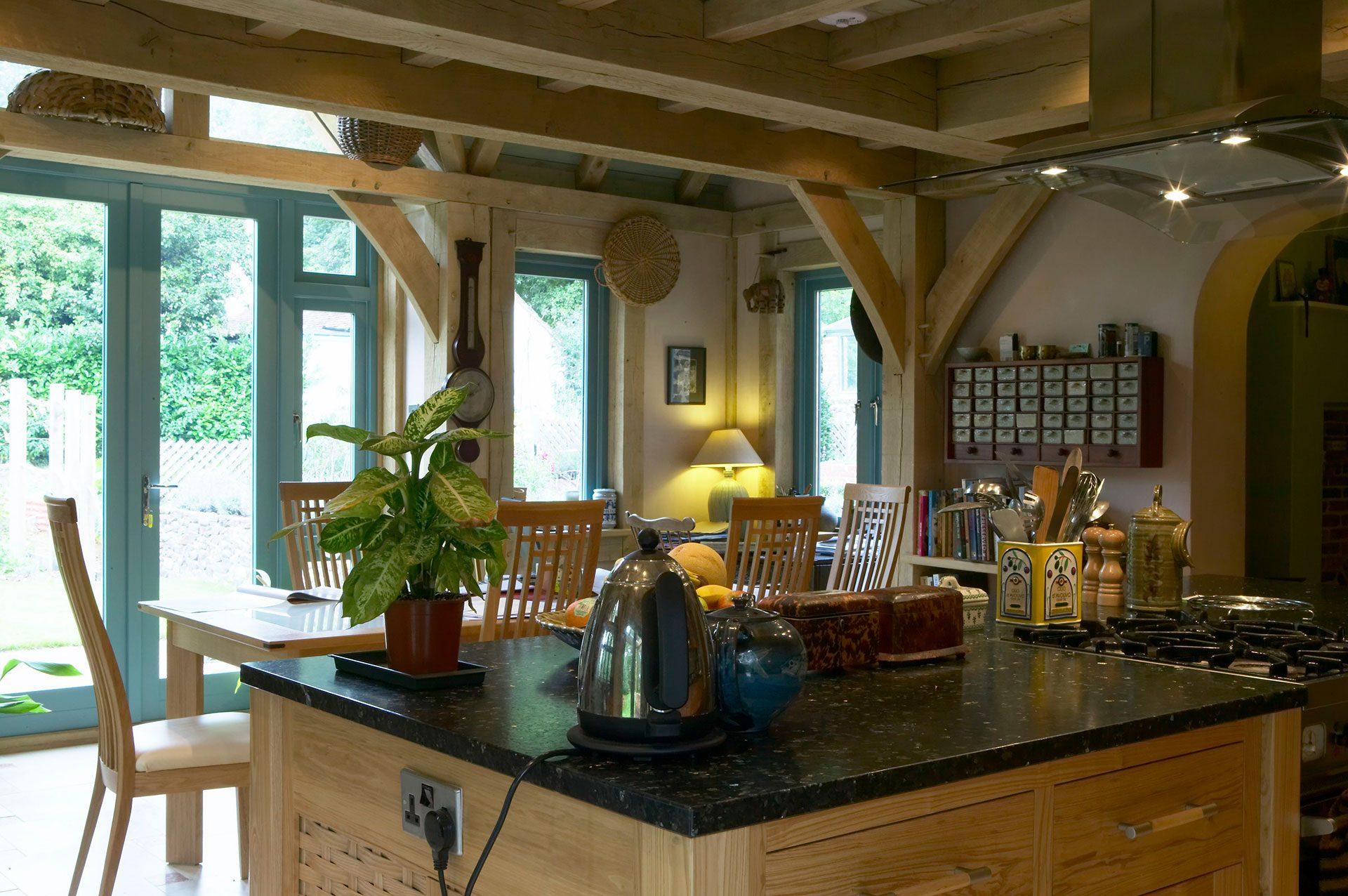 oak frame cottage extension